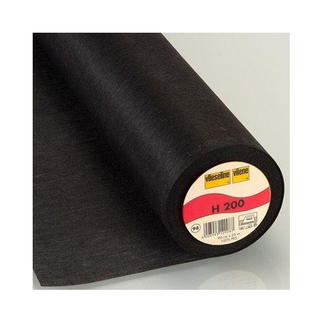 Entoilage Thermocollant Vlieseline H200 Noir - Par 10 cm