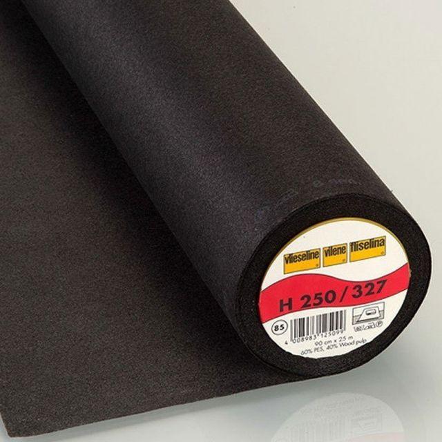 Entoilage Thermocollant Vlieseline H250 Noir - Par 10 cm