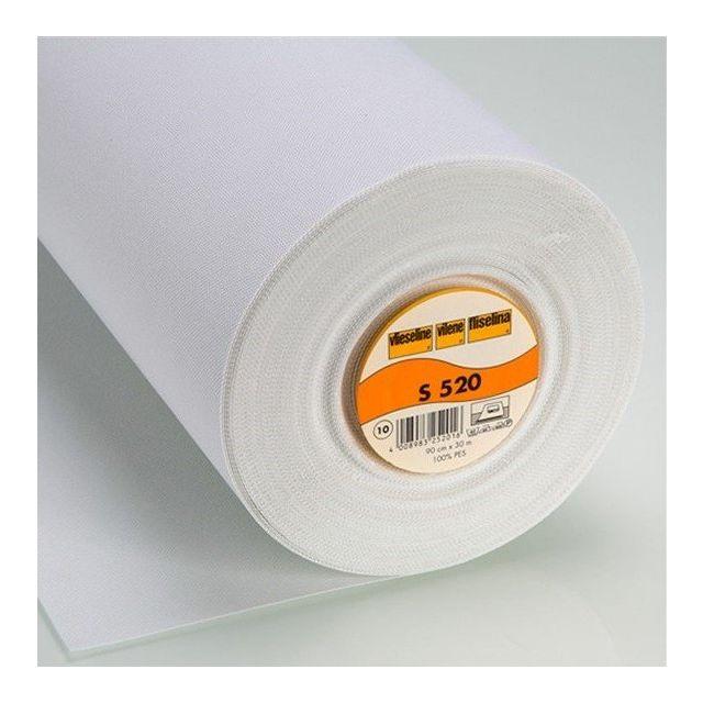 Entoilage Thermocollant Fort Vlieseline S520 Blanc - Par 10 cm