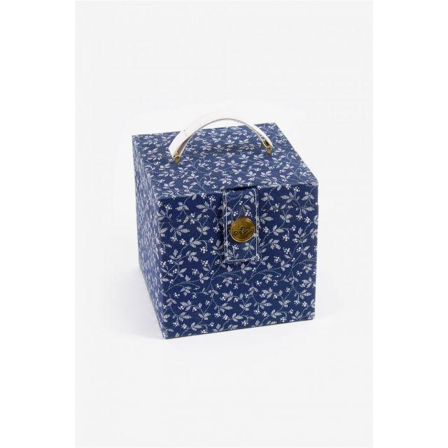 Boite à couture DMC Fleurs Carrée Bleu DMC