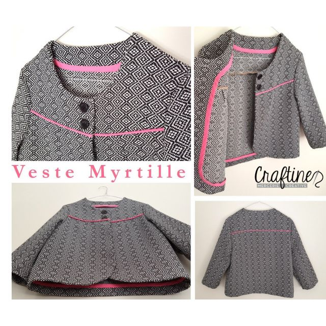 Patron Craftine Veste Myrtille