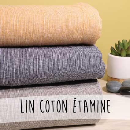 Nouveautés - Lin coton étamine