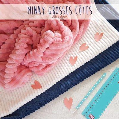 Tissus Minky à grosses côtes