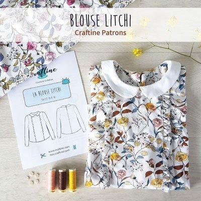 Nouveauté : le patron de couture Craftine Blouse Litchi