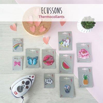 Nouveautés Écussons : écussons thermocollants, écussons à coudre