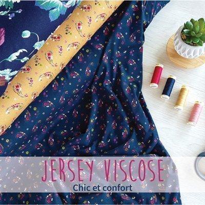 Jersey viscose imprimé