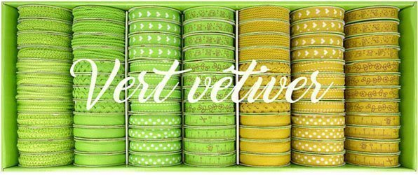 Bobinettes Rubans Vert vetiver