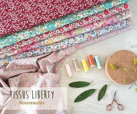 Tissus Liberty of London - Tons rouges
