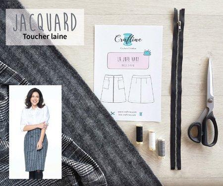 Nouveautés Tissus Jacquard toucher laine