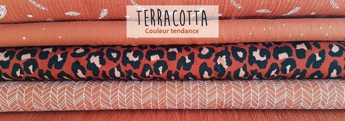 Nouveautés Tissus Terracotta