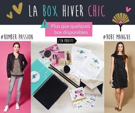 Inscrivez-vous vite pour recevoir la box Hiver chic !