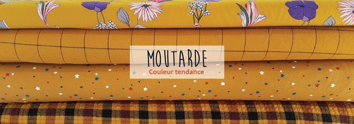 Nouveautés Tissus Moutarde