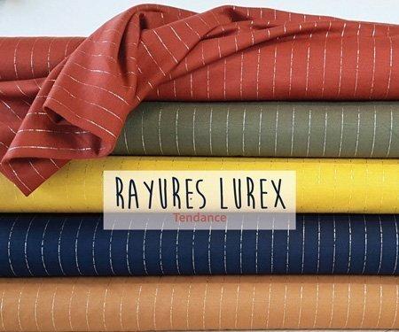 Nouveautés Viscose Rayures Lurex