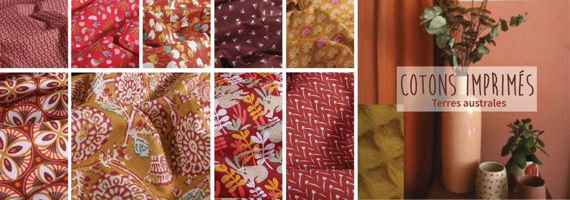 Nouveautés Cotons imprimés Arty Terres australes