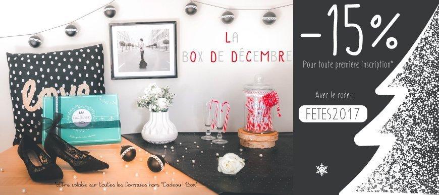 Offre de bienvenue Craftine Box de décembre