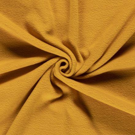 Tissu  Polaire uni Moutarde - Par 10 cm