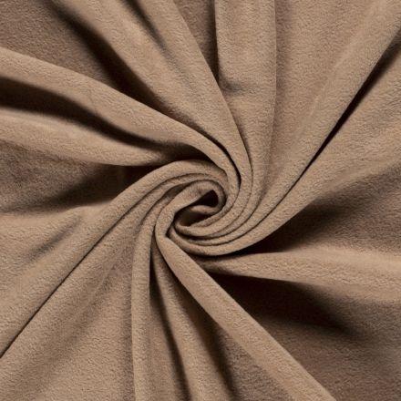 Tissu  Polaire uni Camel - Par 10 cm