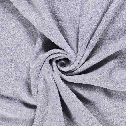 Tissu Polaire uni Gris clair chiné - Par 10 cm