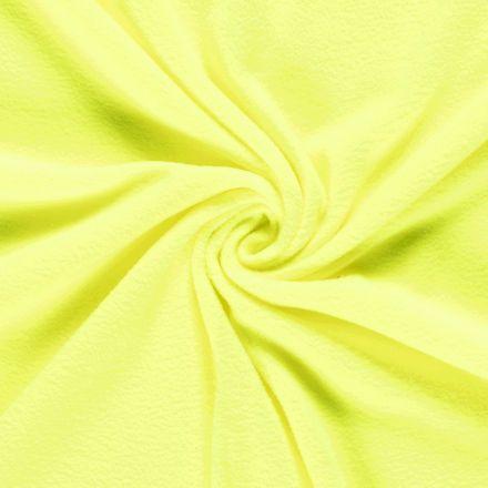 Tissu Polaire uni Jaune fluo - Par 10 cm