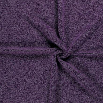 Tissu Fausse fourrure Teddy Bouclettes Violet - Par 10 cm