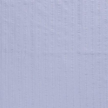 Tissu Coton lavé Brodé Bleu ciel - Par 10 cm