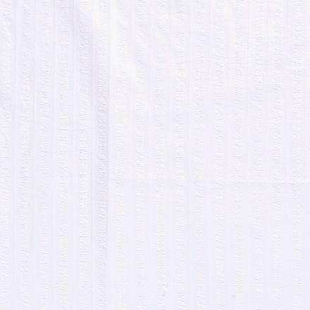 Tissu Coton lavé Brodé Blanc - Par 10 cm