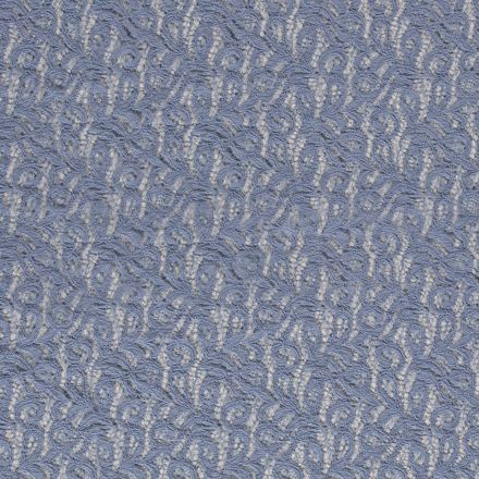 Tissu Dentelle Olga arabesque Bleu ciel - Par 10 cm