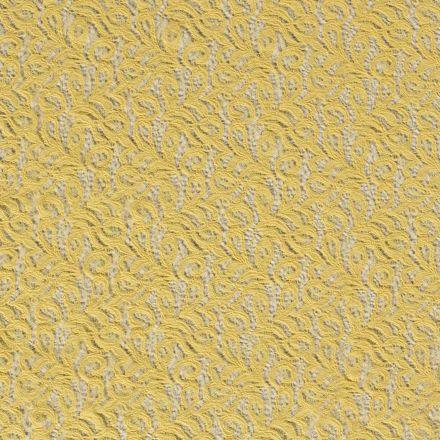 Tissu Dentelle Olga arabesque Jaune - Par 10 cm