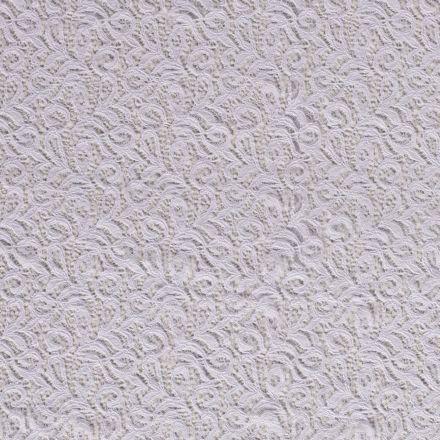 Tissu Dentelle Olga arabesque Blanc - Par 10 cm