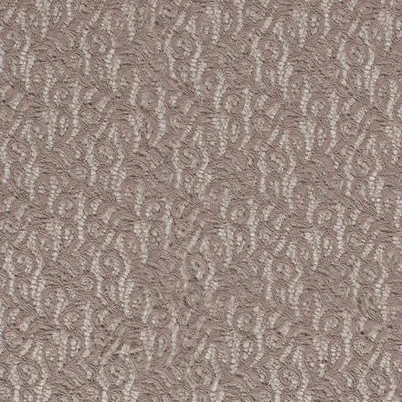 Tissu Dentelle Olga arabesque Gris - Par 10 cm