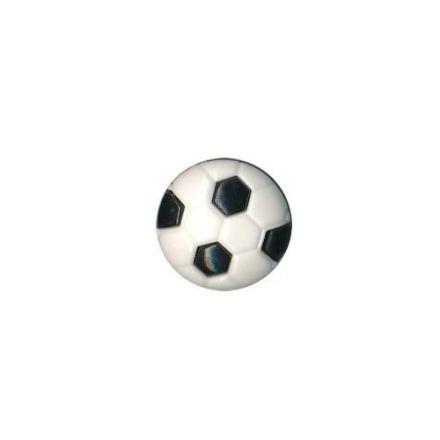 Bouton Ballon Rond Polyester Noir et Blanc
