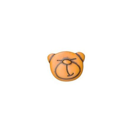 Bouton Tête d'Ours Orange