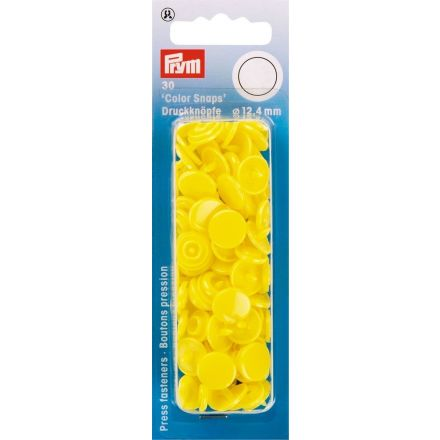 Prym 30 Boutons pression Color Snaps jaune clair 12,4 mm