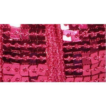 Galon Paillettes 22 mm Rose fuchsia Paillettes x1m