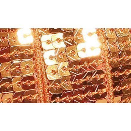 Galon Paillettes 22 mm Orange Paillettes x1m