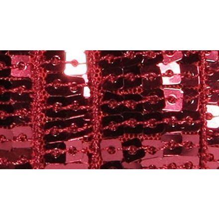 Galon Paillettes 22 mm Rouge alizarine Paillettes x1m