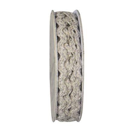 Serpentine tressé Beige et gris - bobinette 2m