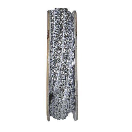 Ruban épi lurex Argent - bobinette 2m