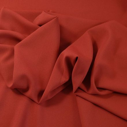 Tissu Crêpe Georgette Rouille x10cm