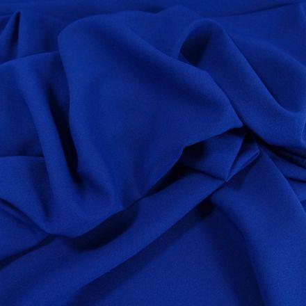 Tissu Crêpe Georgette Bleu roi x10cm