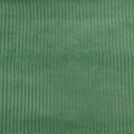 Tissu Velours Grosses côtes Vert bleu x10cm