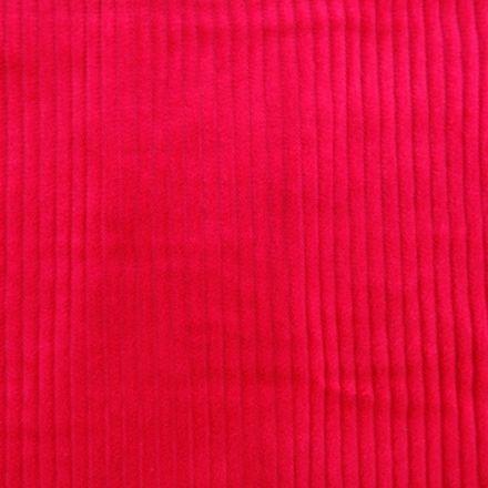 Tissu Velours Grosses côtes Fuschia x10cm