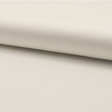 Tissu Gabardine Satiné Blanc - Par 10 cm