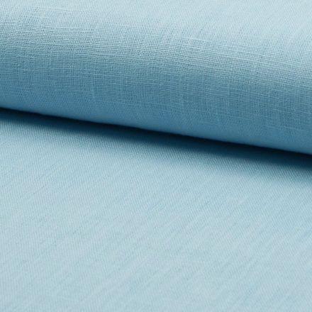 Tissu Lin Bleu clair x10cm
