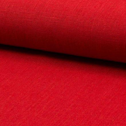 Tissu Lin Rouge x10cm