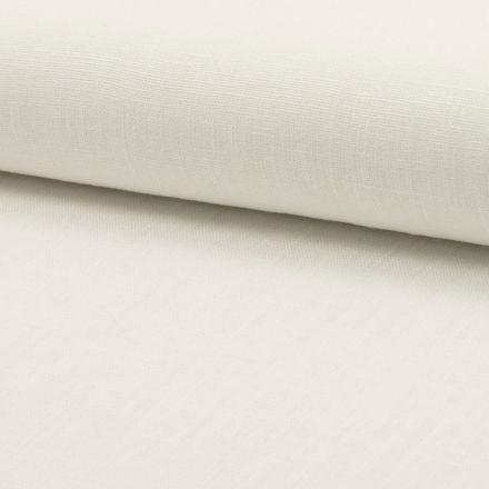 Tissu Lin Blanc x10cm