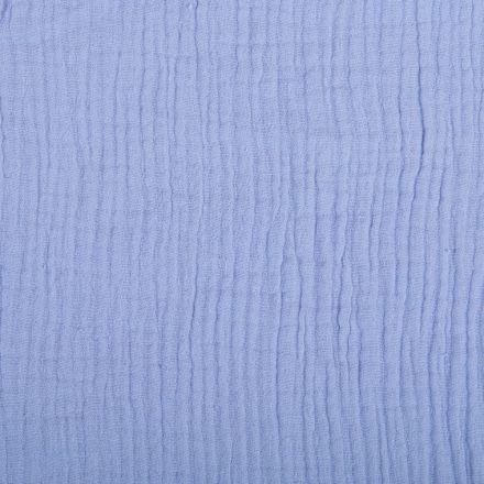 Tissu Double gaze de coton uni Parme - Par 10 cm