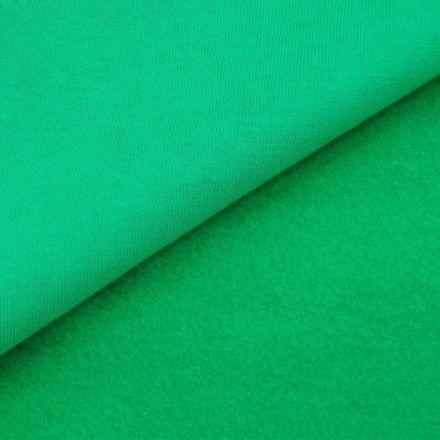 Tissu Molleton Sweat uni Vert x10cm