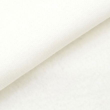 Tissu Molleton Sweat uni Blanc x10cm
