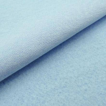 Tissu Molleton Sweat uni Bleu dragée x10cm